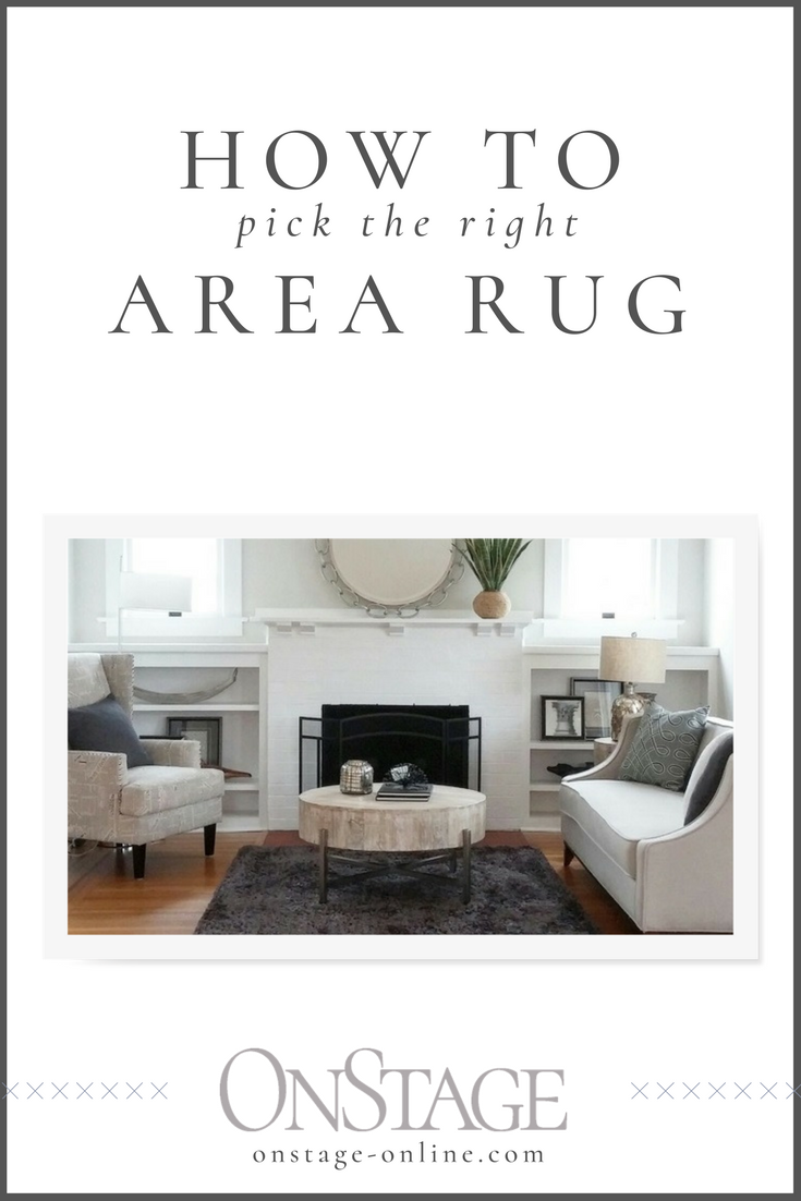 how to choose the right area rug | onstage